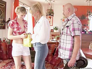 his old mamma and daddy envolve her into smutty