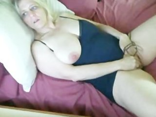 busty older toying.