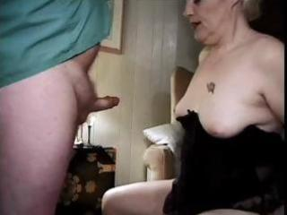 1111 yo blonde granny still eating cock and