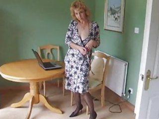 older body stocking hose undress