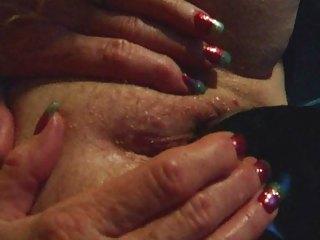 old amateur mature wife dark dildo masturbation