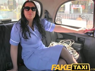faketaxi horny nurse loves a large cock