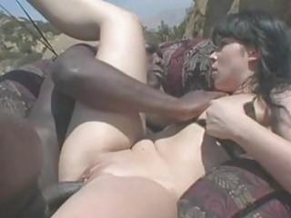 bootylicious black haired momma in bikini