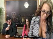 porn tv news with 4 busty milfs and guy ,