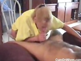 blonde d like to fuck gripping blowjob
