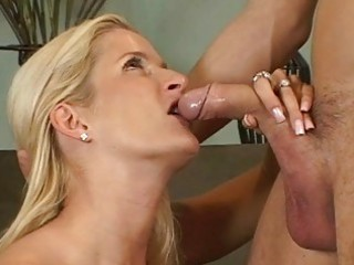 golden-haired milfs ball licking blowjob act