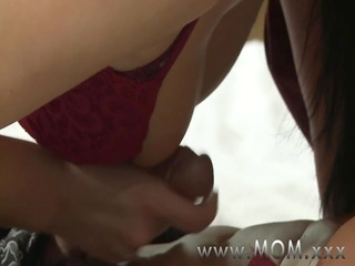 mamma cougar wife copulates her paramour