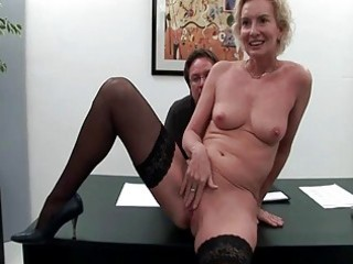 four concupiscent fellows fuck one 83yo mature