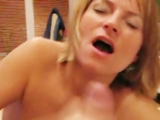 mother i tugjob and facial cumshot