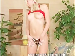 golden-haired wife at home