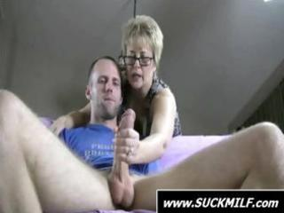 dude receives caught by golden-haired mother i