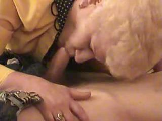 old blond granny satisfies a chap
