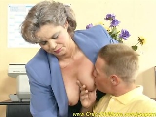 breasty mamma likes office sex
