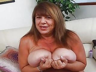 aged momma with additional biggest bosom sticks