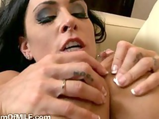 dark brown milf so concupiscent she is plays with