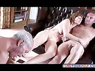 old cuckold take up with the tongue the one and