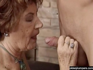 granny seducing excited lad