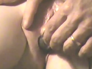 closeup non-professional bawdy cleft play,
