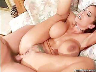 big tit girl receive an anal screwed