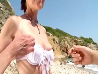 joyce analfucked on a beach in spain