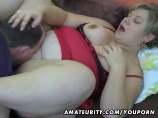 corpulent amateur wife homemade suck and fuck