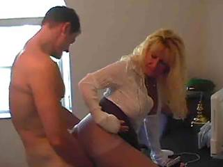 hot busty golden-haired granny cougar julia