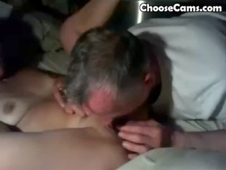 granddad giving grandma great oral job sex