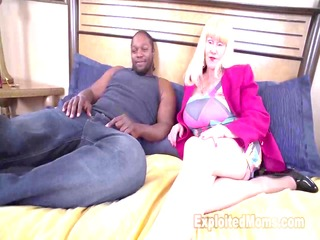 granny with huge mambos takes a pounding from