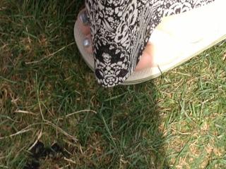good candid granny feet