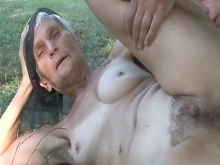 lustful shaggy granny viviana copulates below the