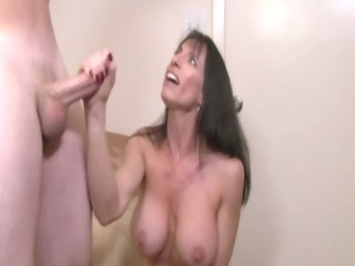 sexually excited cook jerking breasty d like to