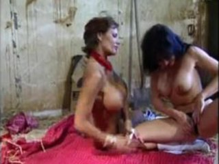 two natural large boobed cowgirl milfs in lesbo