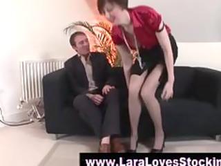 nylons older lady in high heels