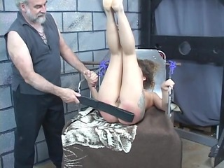 hard spanking for hot juvenile black brown perky