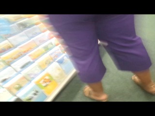 candid arse wedge in purple