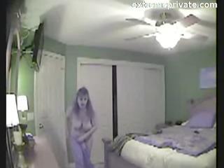 my breasty mum caught on spy webcam in bedroom