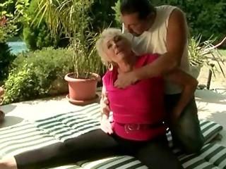horny granny fucking with her tutor