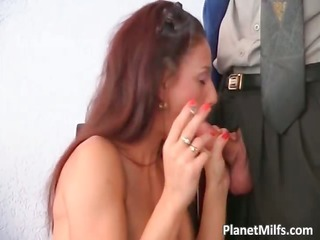slutty redhead getting soaked wet crack drilled