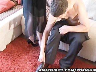 breasty dilettante milf sucks and bonks with cum
