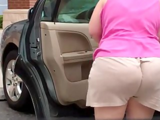 mommy overweight old - spying big booty - bend