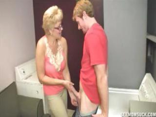 Granny teaches blowjob