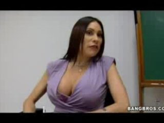 breasty milf teacher shows her students what a