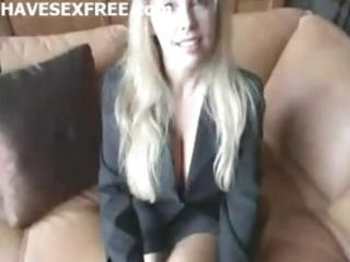 golden-haired breasty wife acquire home fucking