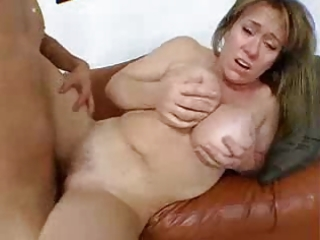 hot aged with large milk sacks copulates a guy