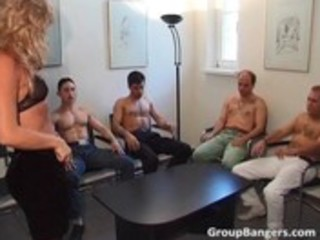 amateur gang team fuck party with three-some aged