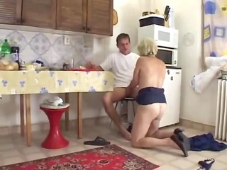 mama in the kitchen