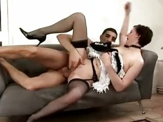 older maid acquires spanked by lad