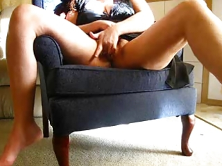 concupiscent wife masturbates on web camera