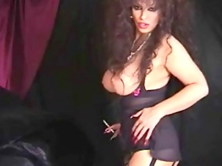 classic busty cougar smokin and toying