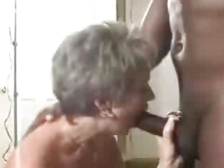 a hawt aged wife gets a creampie from her dark